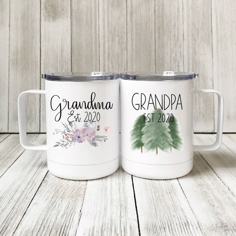 Stainless Steel Coffee Mug Grandparents Gift Grandparents image 0
