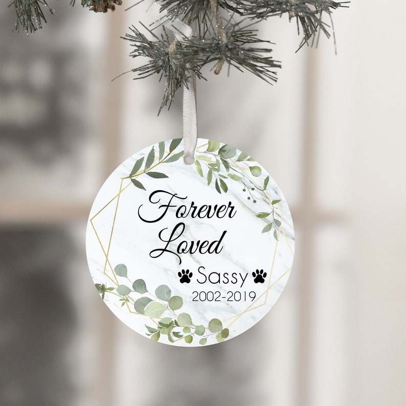Forever Loved Cat Loss Pet Loss Ornament Cat Loss Gifts image 0