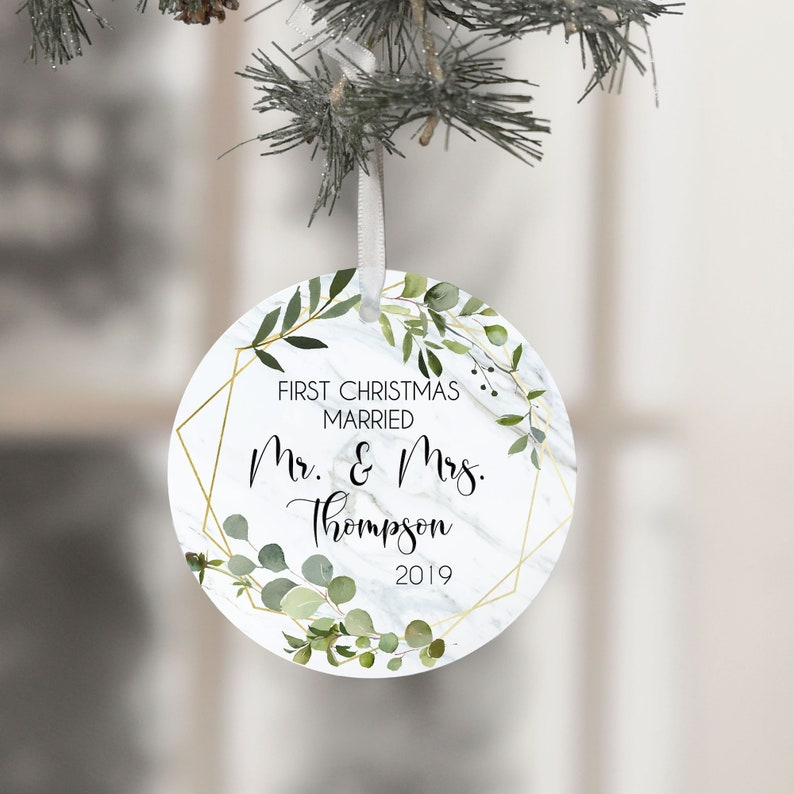 First Christmas Ornament Couple First Christmas Married image 0