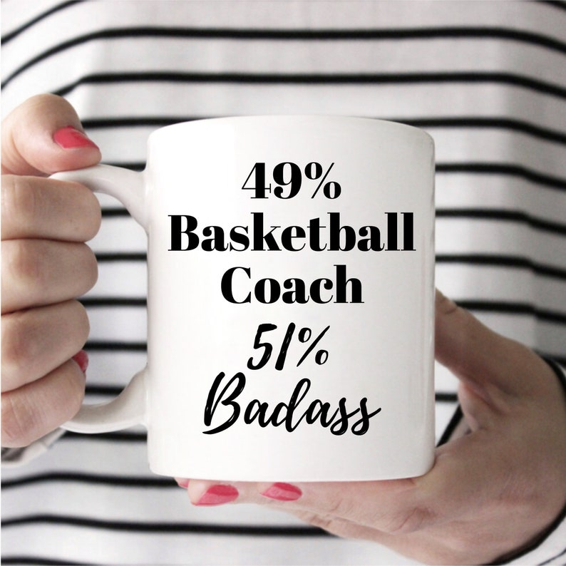Basketball Coach Mug Basketball Coach Gift Idea Basketball image 0