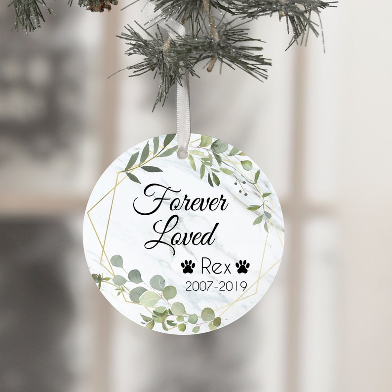 Forever Loved Dog Dog Loss Gifts Ornament Loss of Dog Gift image 0