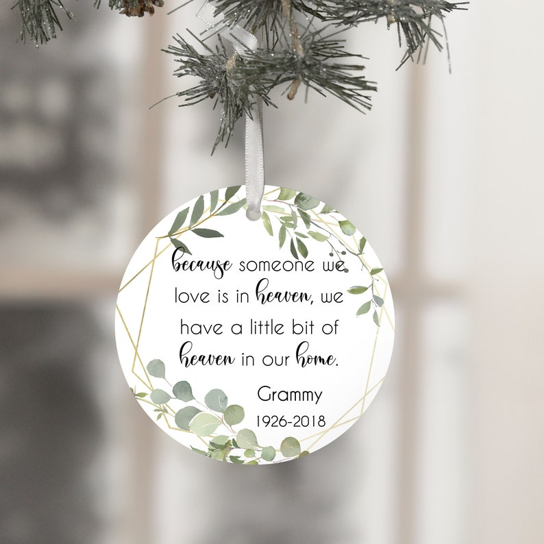 Memorial Grandma Ornament Memorial Ornament Mom Sympathy image 0