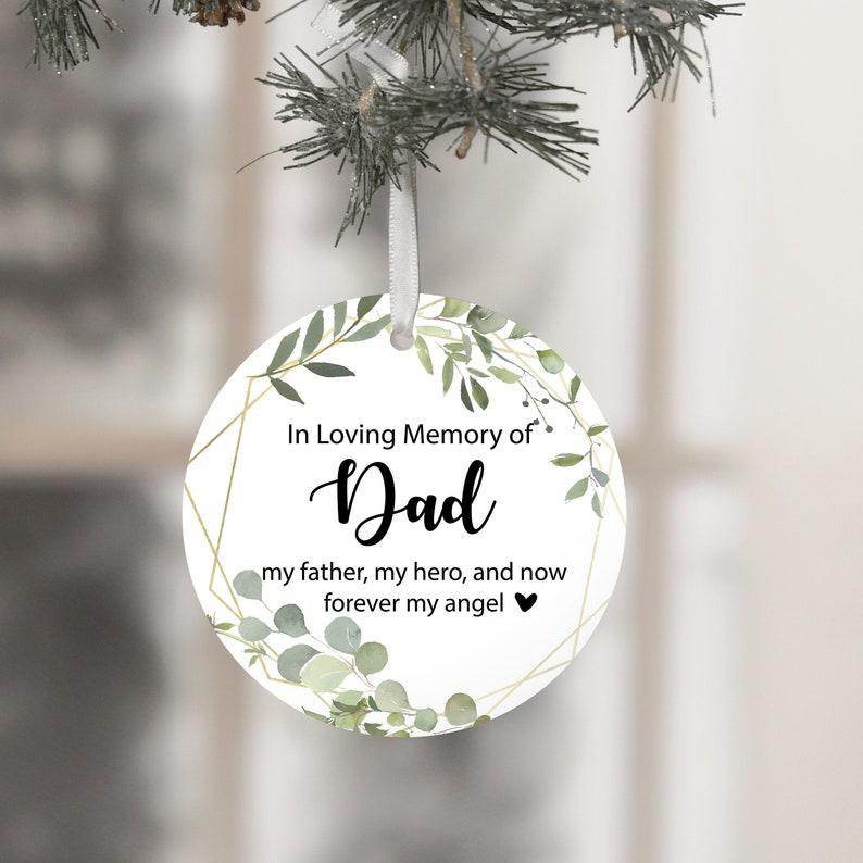 Memorial Ornament Dad Memorial Dad Ornament Sympathy image 0