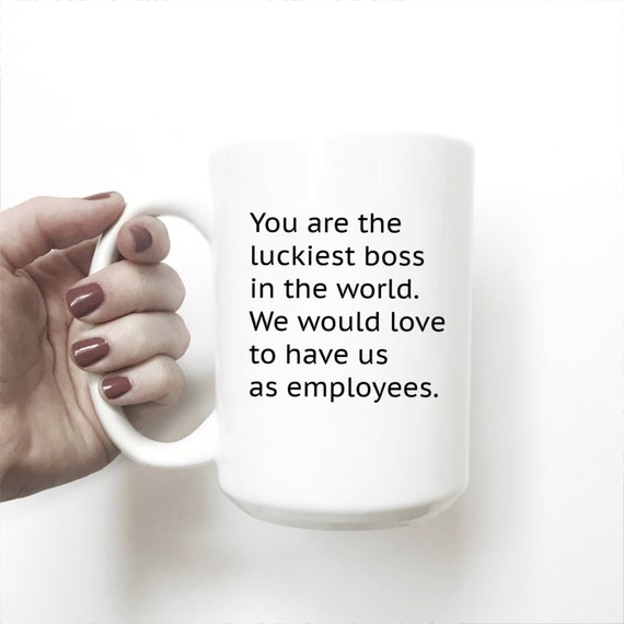 Luckiest Boss From Employees Day Funny Gift For