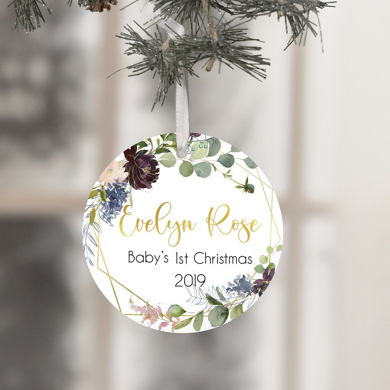 Baby Girl First Christmas Ornament First Christmas Ornament image 0