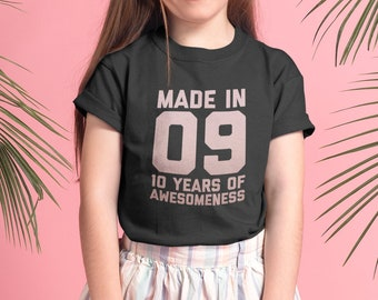 10th Birthday Shirt For Girls Gift Ideas 10 Year Old Daughter Niece Age Kids Outfit
