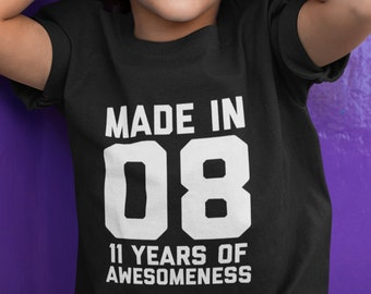 11th Birthday Shirt Boys Girls Gift For 11 Year Old Kid Age Outfit Son Daughter