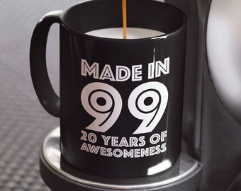 20th Birthday Mug Gift 1999 For 20 Year Old Boys Girls Son Daughter
