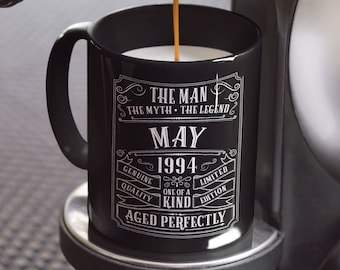 25th Birthday Mug Personalized Gift Idea For Son Present 25 Year Old Men