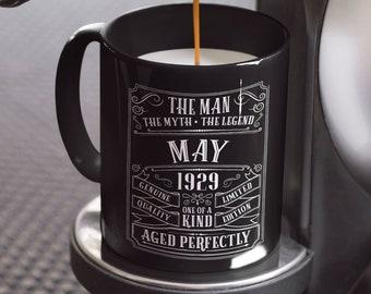 90th Birthday Mug Personalized Gift Idea For Grandpa Present 90 Year Old Men