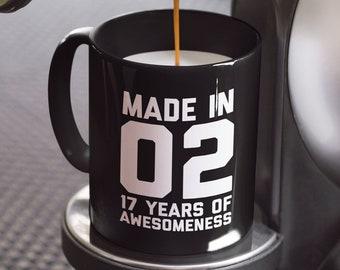 17th Birthday Mug Gift 2002 For 17 Year Old Boys Girls Son Daughter