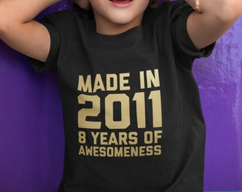 8th Birthday Shirt For Son Daughter Gifts 8 Year Old Boys Girls Age Eight Gift Ideas Kids