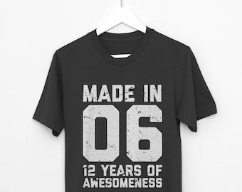 Weitere Farben 12 Geburtstag Shirt