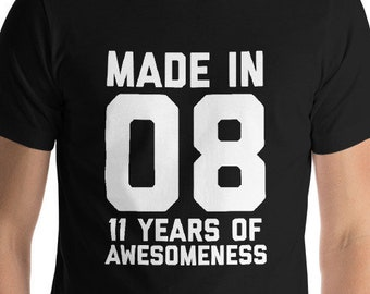 11th Birthday Shirt For Girls Gift Boys 11 Year Old Son Daughter