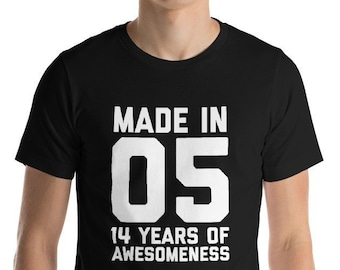 14th Birthday Shirt For Boys Gift Girls Ideas 14 Years Old