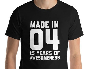 15th Birthday Shirt For Daughter Son Gift Boys Girls Ideas 15 Year Old