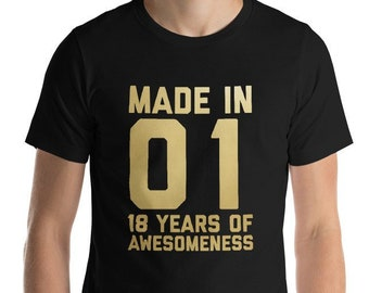 18th Birthday Shirt For Boys Girls Gift Men Women 18 Year Old Daughter Son