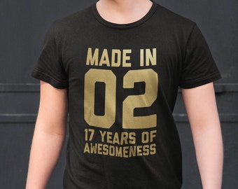 17th Birthday Shirt For Boys Girls Gift Daughter Son Ideas 17 Years Old
