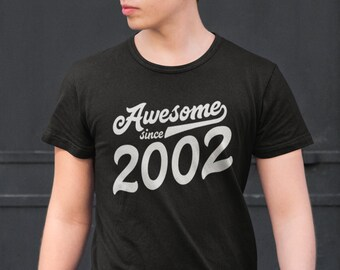 17th Birthday Shirt Boys Girls Gift For 17 Years Old Boy Girl Awesome Since 2002