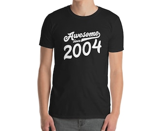 15th Birthday Shirt For Boys Girls Gift Ideas 15 Years Old Awesome Since 2004