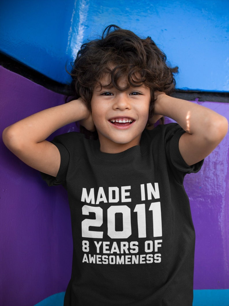 8 Year Old Birthday Shirt Boys Girls 8th Gift For