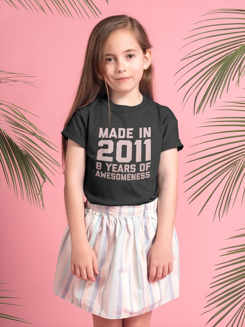 8th Birthday Girl Shirt Gift For 8 Year Old Daughter Age