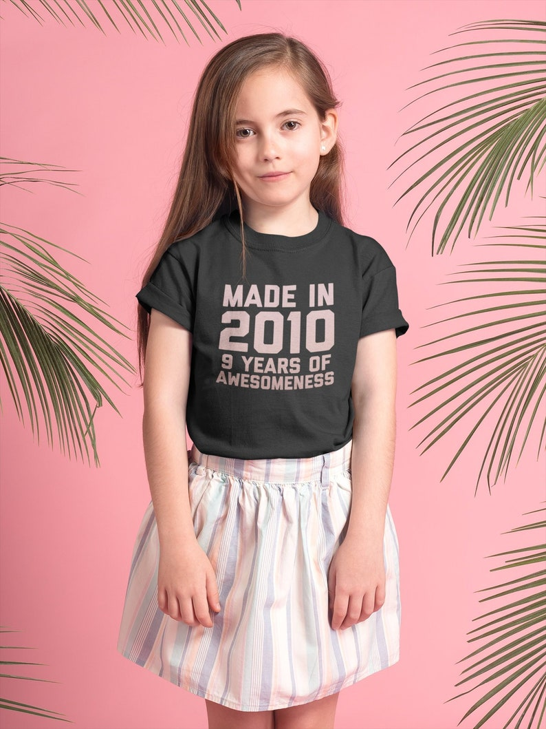 9 Year Old Birthday Girl Shirt Age Kids Gift