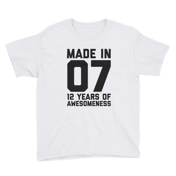 12th Birthday Shirt For Girls Gift Boys 12 Year Old Son Daughter