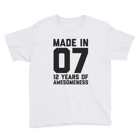 12th Birthday Shirt For Girls Gift Boys 12