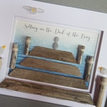Sea Glass Art - Driftwood Art - Dock of the Bay - Driftwood, Sea Glass, Pebbles - Birthday or Christmas Gift