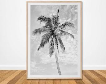 Strand Inrichting Slaapkamer : Zee strand palm tree afdrukken van surf surfer oceaan kustweg etsy