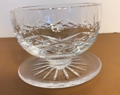 Vintage Waterford Lismore Grapefruit Bowl, Crystal Waterford Footed Candy Dish, Lismore Waterford Crystal Footed Fruit Bowl