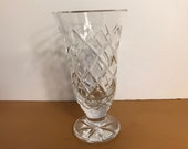 Waterford Lismore Trumpet Style Footed Vase, Waterford 7 quot Tall Vase, Beautiful Crystal Vase, Vintage Lismore Vase, Signed Waterford Crystal