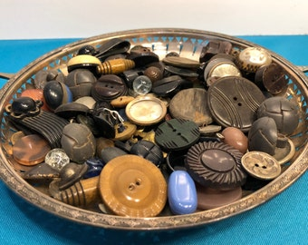 200 pcs RARE MIXED LOT Of Metal Buttons OLD-VINTAGE /& NEW