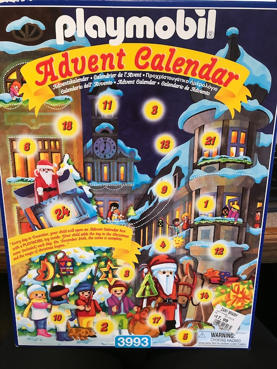 Vintage Playmobil 3993 Advent Calendar, Playmobil Collectible Christmas, Advent Calendar with Toys, Playmobil New