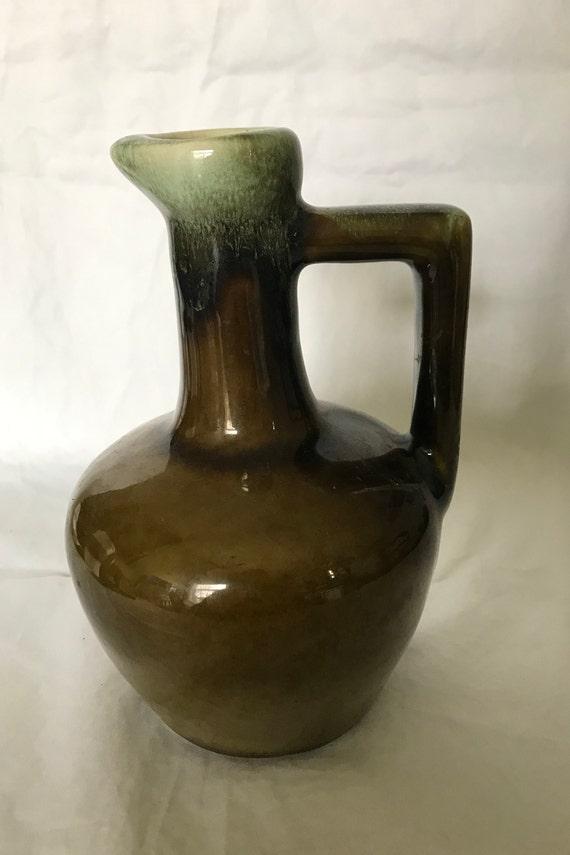 "Drip Glaze Ceramic Vase Small Bud Vase Brown Ceramic Pottery 5./"" Tall"