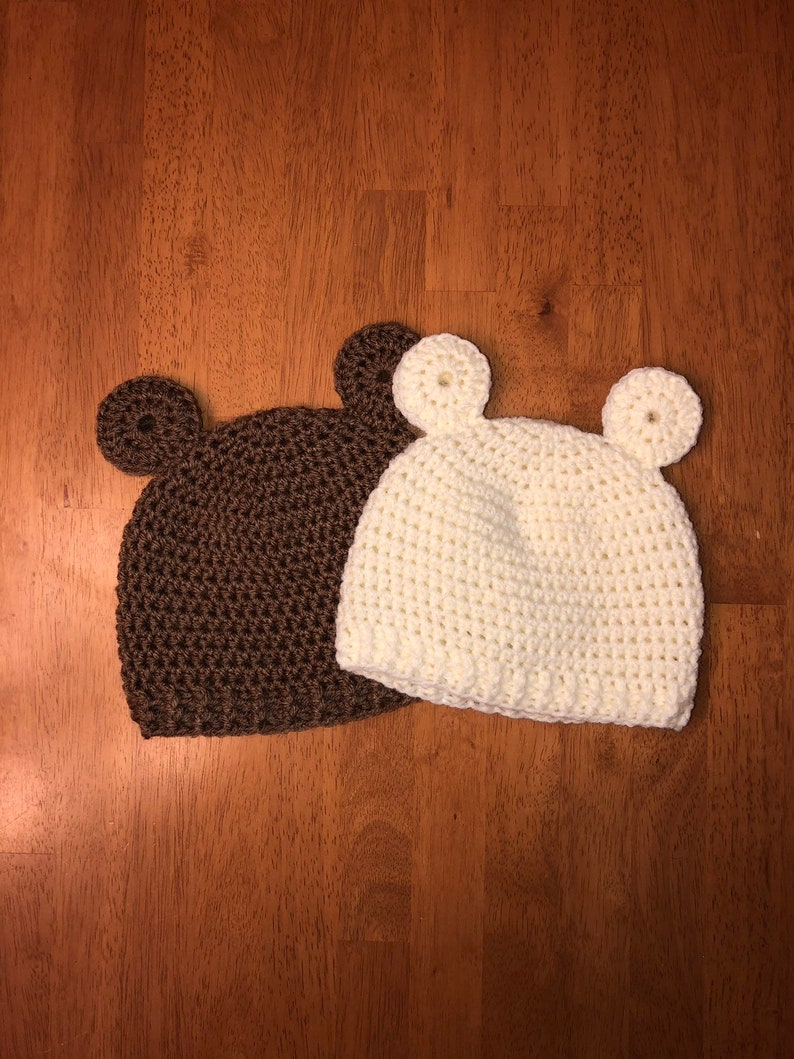1bc3a0a4c2d Teddy Bear Hat Infant to Toddler Sizes Available Handmade