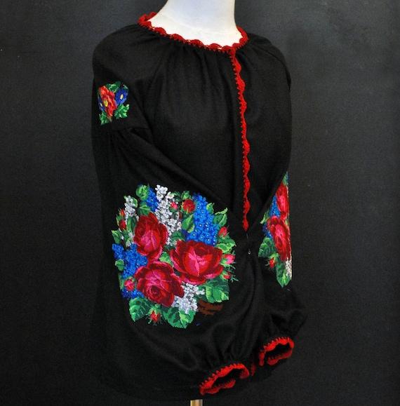 with Real Embroidery. Modern Designed Womens Ukrainian National Shirt Vyshyvanka