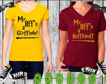 Harry Potter Funny Shirts - Griffindor -  Hufflepuff - Bff Shirts