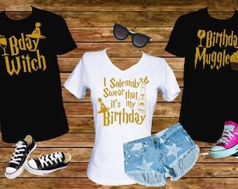 Birthday - Bday - Harry Potter Shirt - Tshirt - I Solemnly - Dobby is free