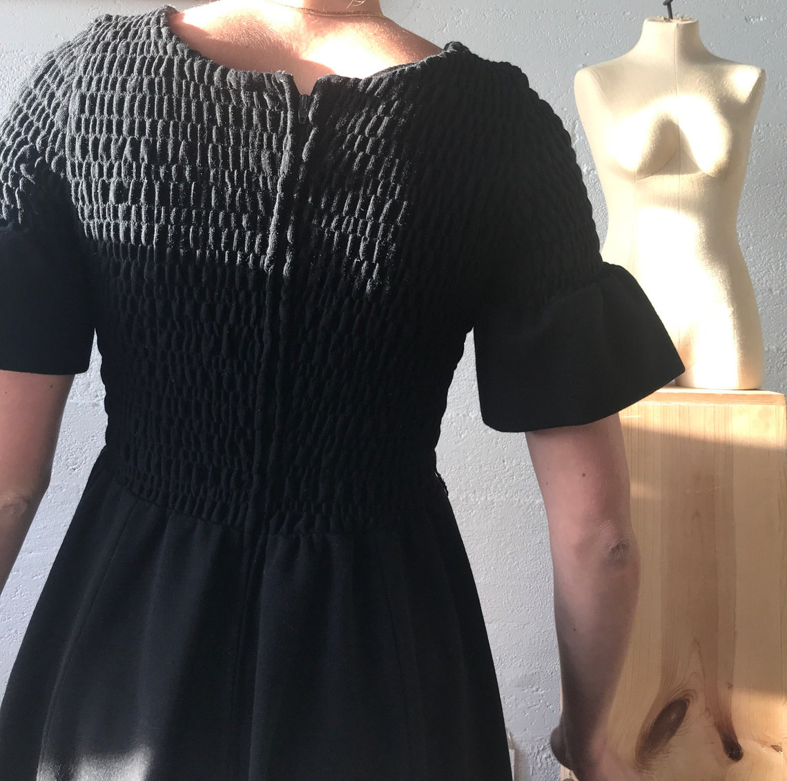 1960s Ayres Unlimited Baby Doll Dress  Scrunch Top  Vintage