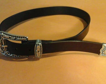 Country leather belt