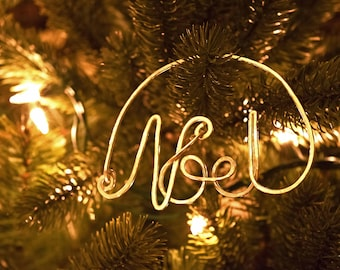 The first Noel, Christmas ornament, Silver Christmas ornament, Gold Christmas ornament, Christmas words, Handmade Christmas ornament