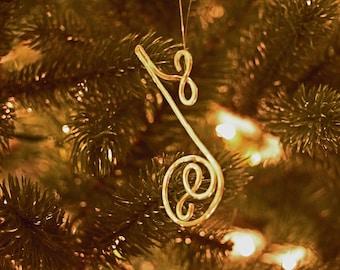 Christmas Music 1/8 note, gold music note, silver music note, music collection, Christmas song Christmas carol, Handmade Christmas ornament