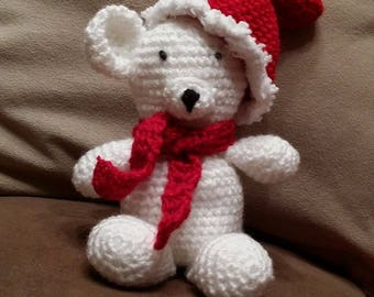 Red and white bear