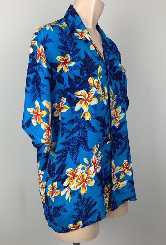 Vintage 50s Mens Kuonakakai Rayon Hawaiian Shirt - image 4