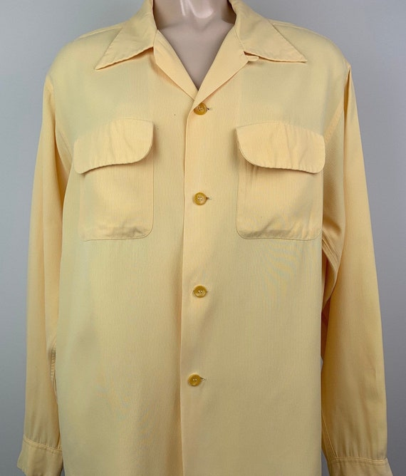 Vintage 40s Mens Penneys Towncraft Rayon Shirt