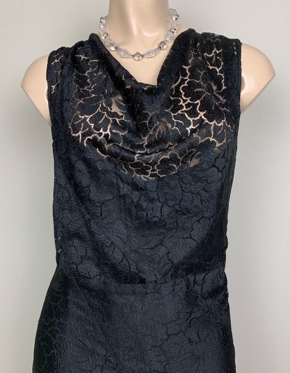 Vintage 20s 30s Art Deco Black Lace Dress - image 5