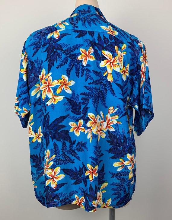 Vintage 50s Mens Kuonakakai Rayon Hawaiian Shirt - image 6