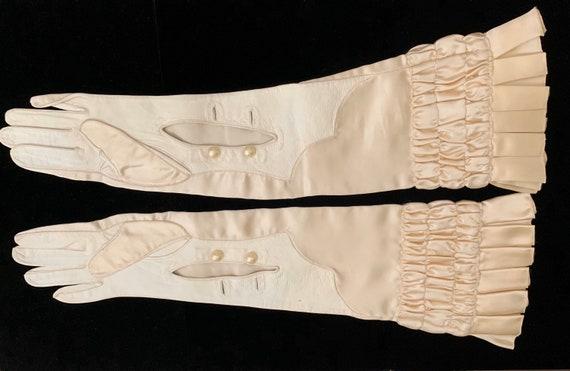 Stunning Antique Victorian Edwardian Silk & Leathe